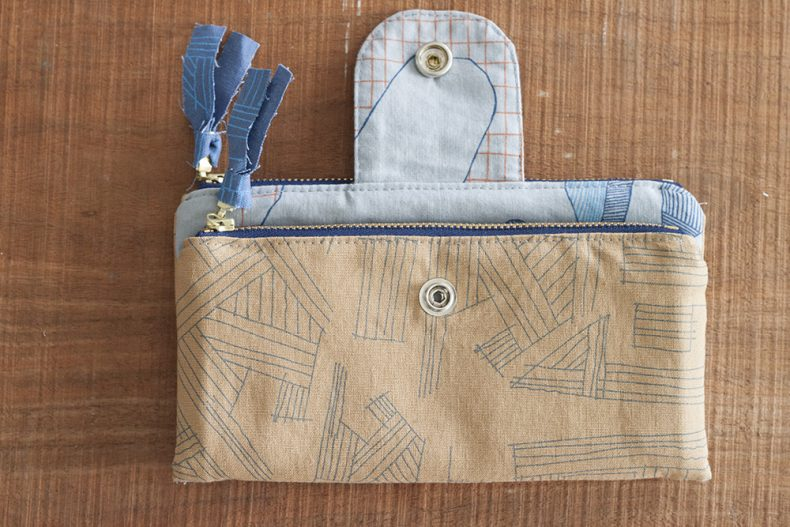 Euclid and Carkai Double Zip Wallet