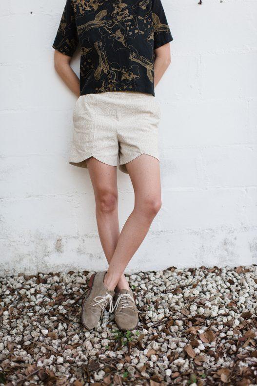 Euclid Scallop Hem Shorts