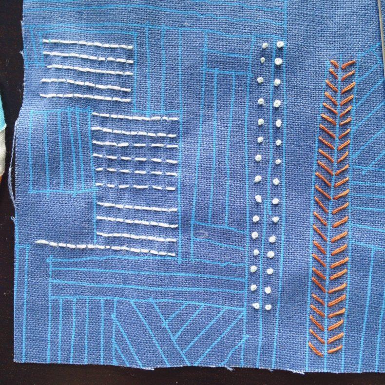 Euclid Embroidery . Carolyn Friedlander