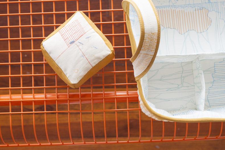 Social Tote in Friedlander Fabric . Carolyn Friedlander
