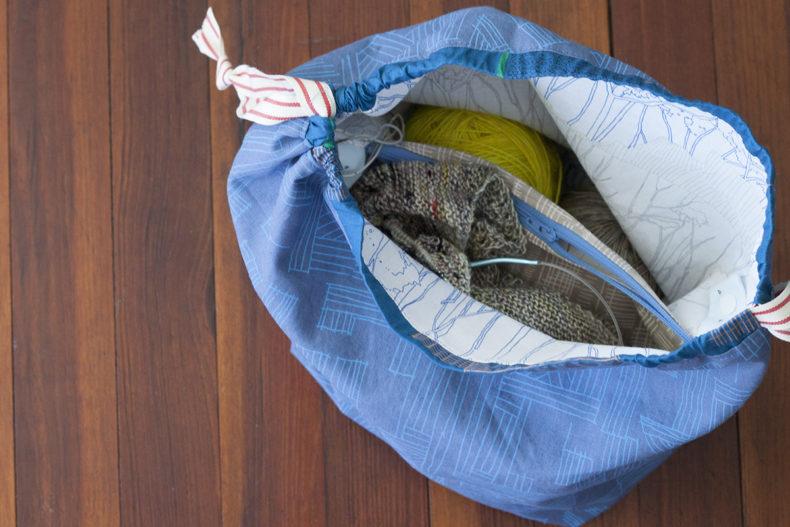 Sock Sacks in Friedlander and Euclid fabrics . Carolyn Friedlander