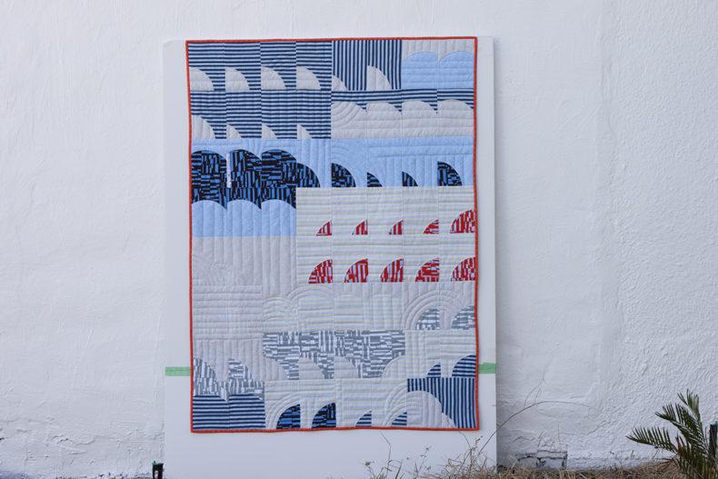 Tee Quilt in Blake Knit . Version B . Carolyn Friedlander