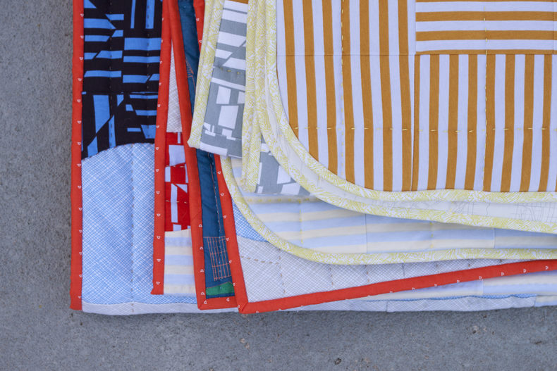 Tee Quilts in Blake Knit . Carolyn Friedlander