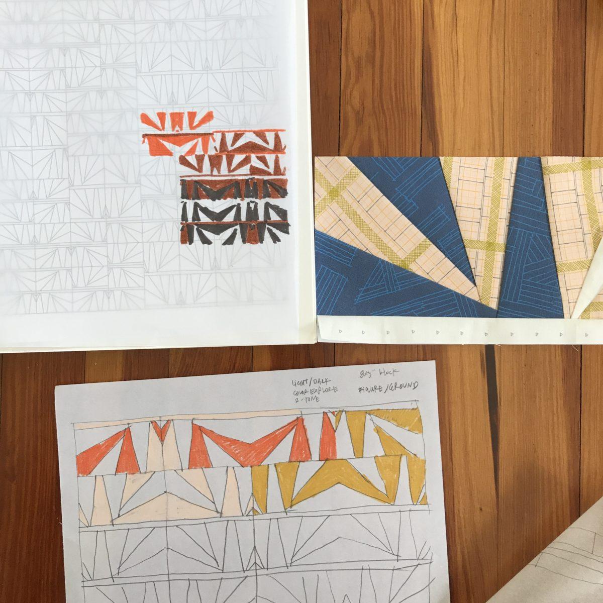 Eads quilt project planning . Carolyn Friedlander