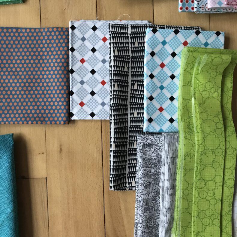 Eads QAL fabric pull . Carolyn Friedlander