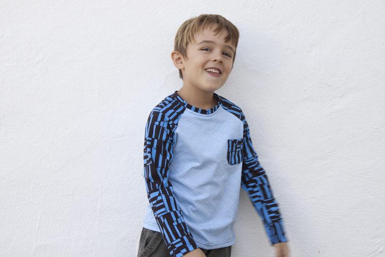 Field Trip Raglan t-shirt in Blake Knit