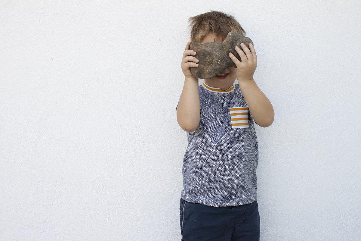 Schoolbus T-Shirt in Blake Knit