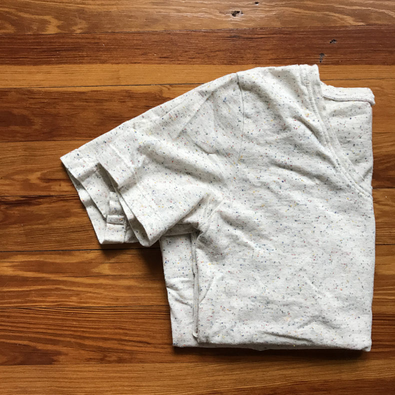 Seamly Basic Tee in Speckle Jersey