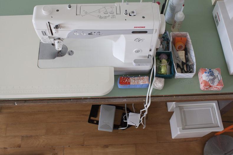 Carolyn Friedlander Sewing Machine Set Up