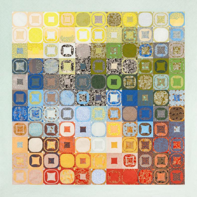 Wainwright quilt in Gleaned Fabrics . Carolyn Friedlander