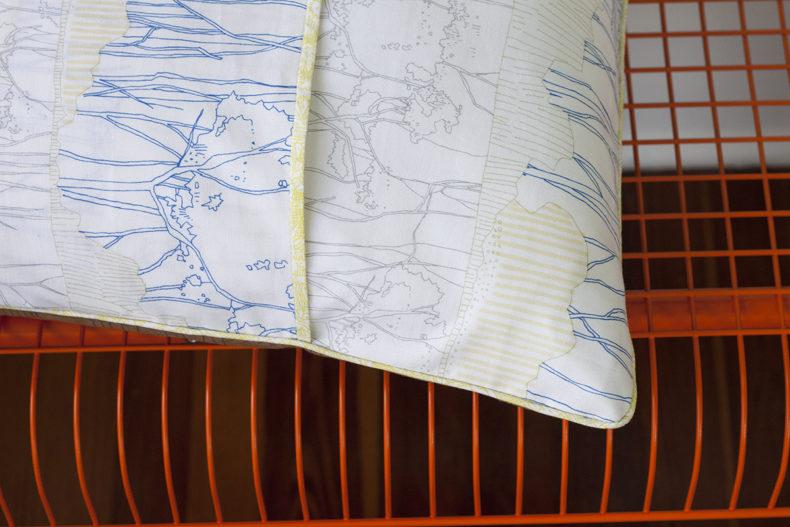 ebb sham in friedlander fabrics . carolyn friedlander