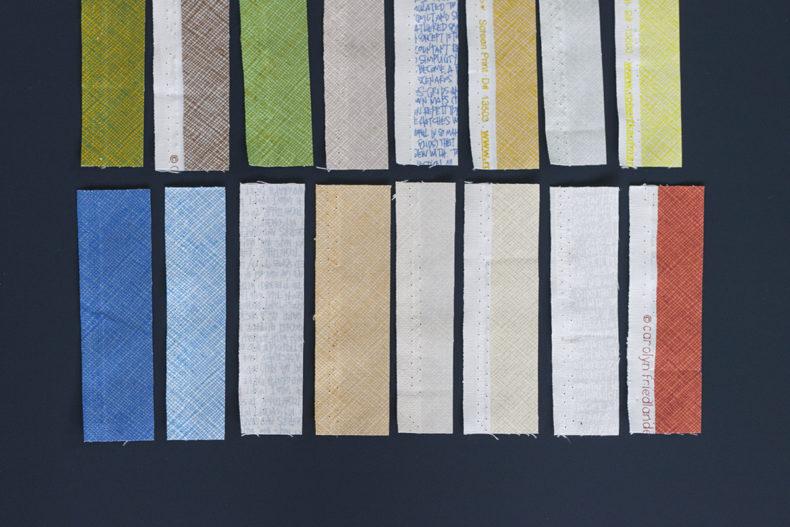gleaned fabric architextures coordinates . Carolyn Friedlander