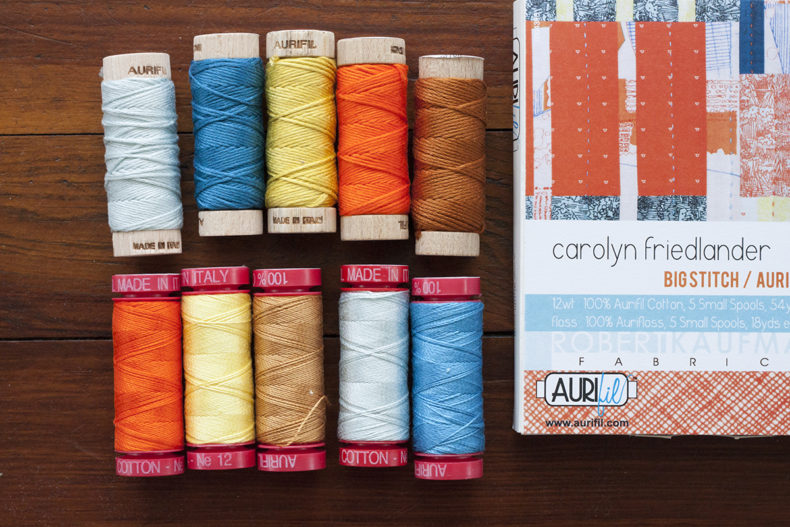 Aurifil 12wt Aurifloss Set . Carolyn Friedlander