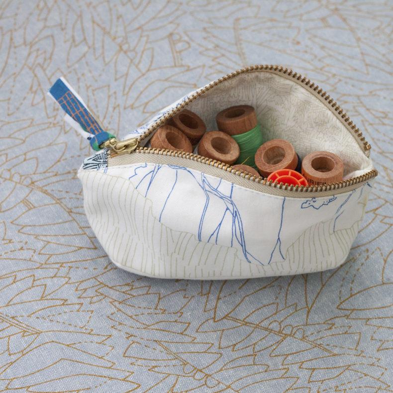 friedlander fabric petal pouch