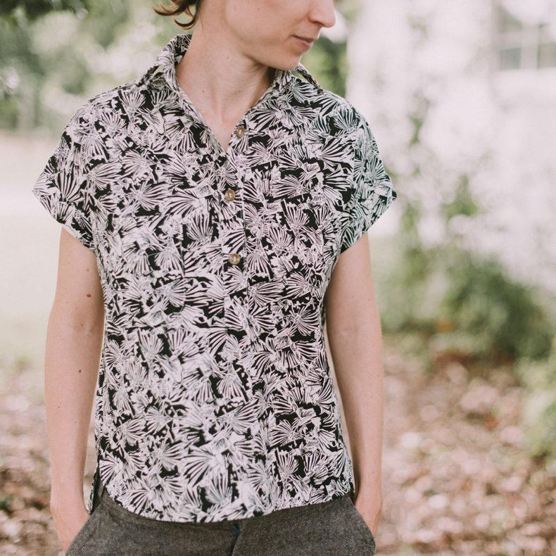 Kalle Shirt in Gleaned Fabric . Carolyn Friedlander