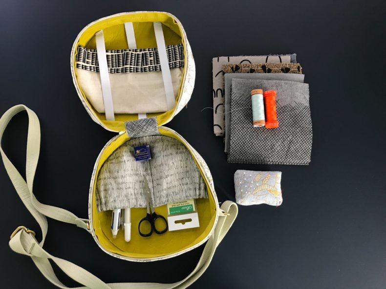 nest egg tote and supplies . carolyn friedlander