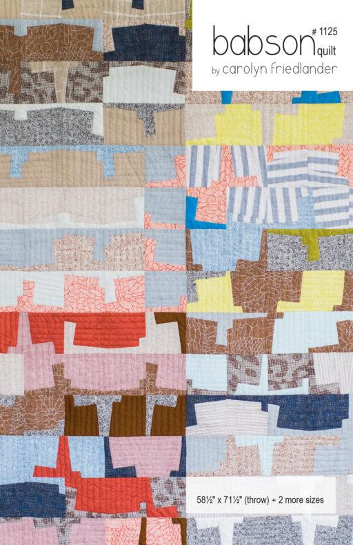Babson Quilt Pattern . Carolyn Friedlander