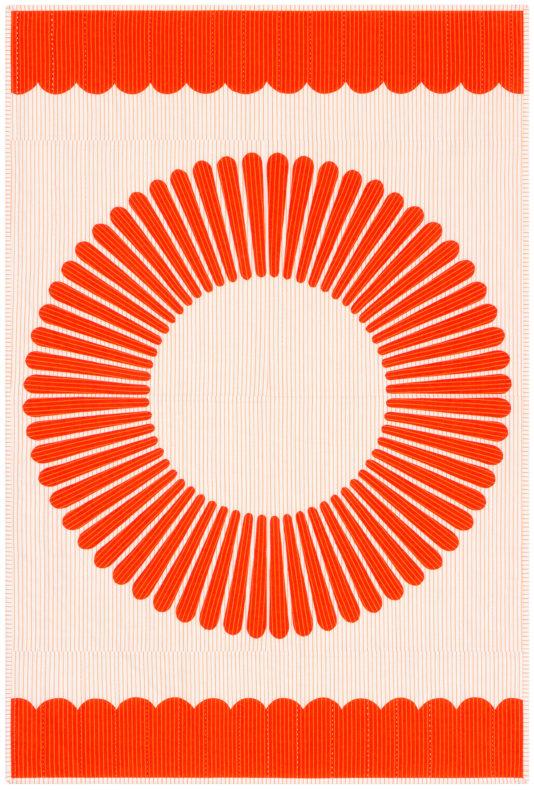 Harriot Tangerine Quilt . Carolyn Friedlander