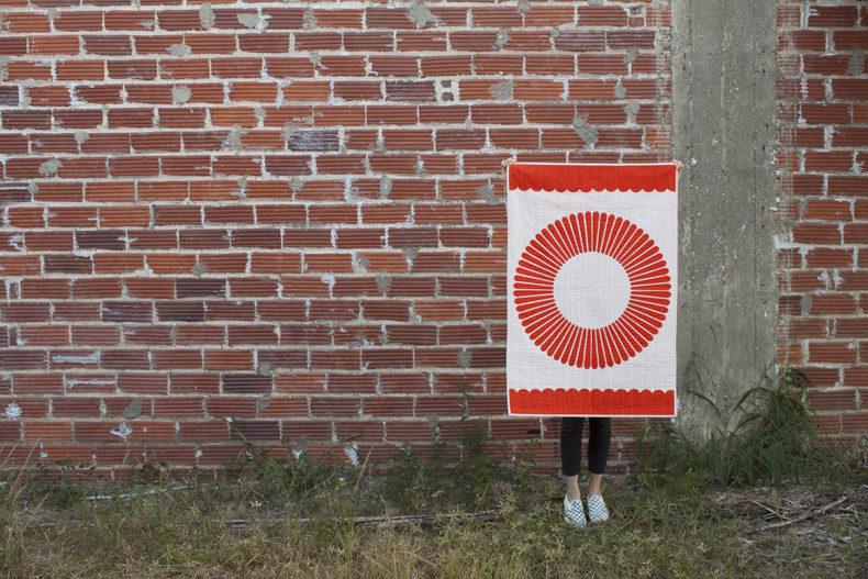 Hunt Tangerine Quilt . Carolyn Friedlander