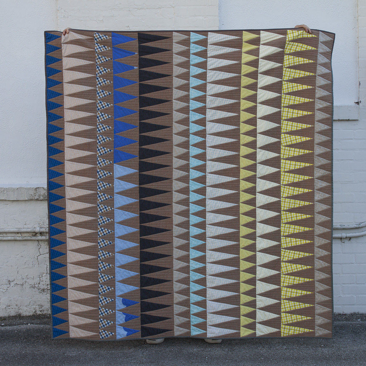 Tangelo Quilt in Harriot Fabric . Carolyn Friedlander