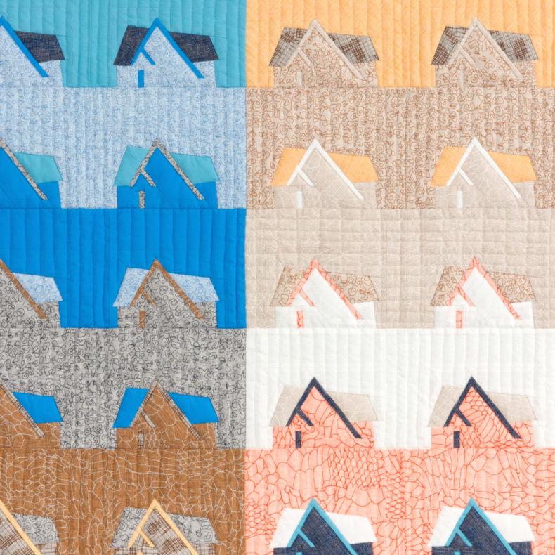 Davie Quilt in Polk Fabric . Carolyn Friedlander