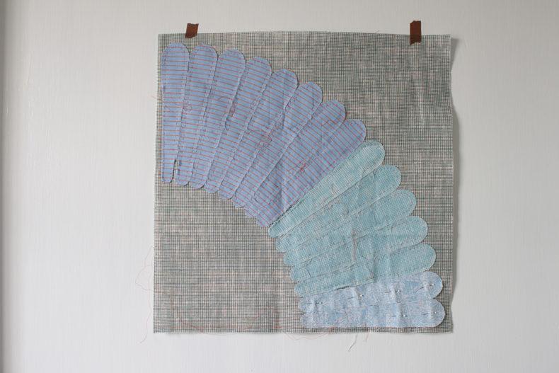 Blue Harriot Hunt block . Carolyn Friedlander