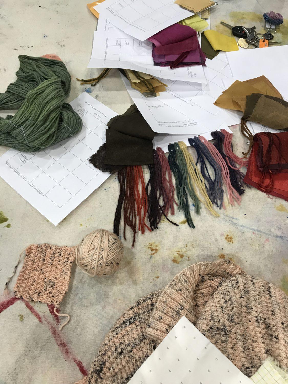 Natural Dye samples with Kim Eichler-Messmer