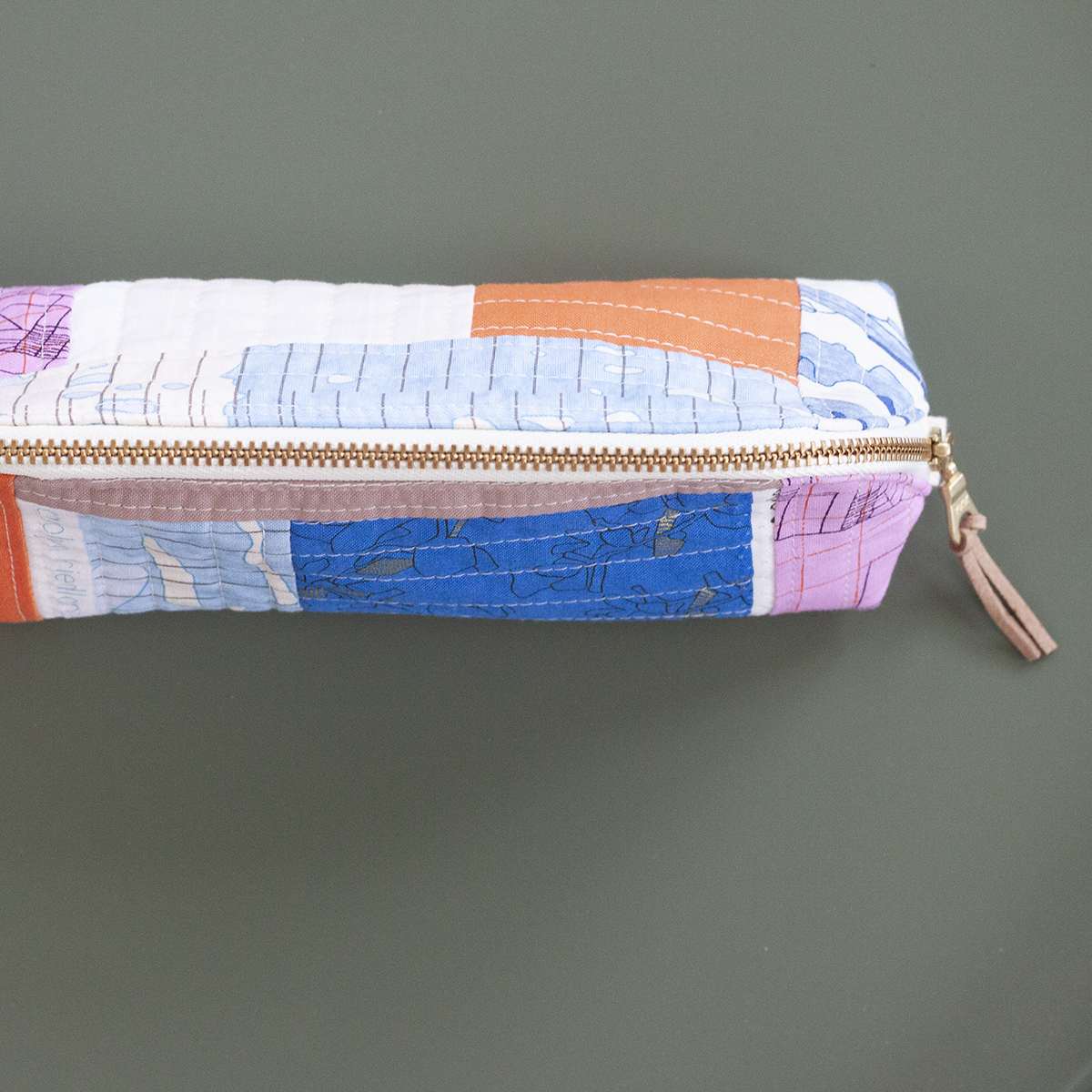 Quilt As You Go Pouch in jetty and collection CF