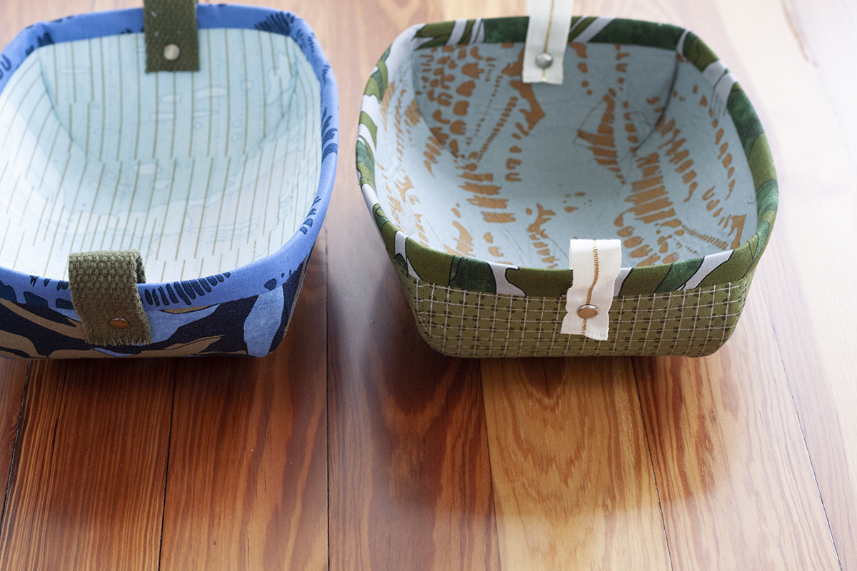 treasure trays in jetty fabric