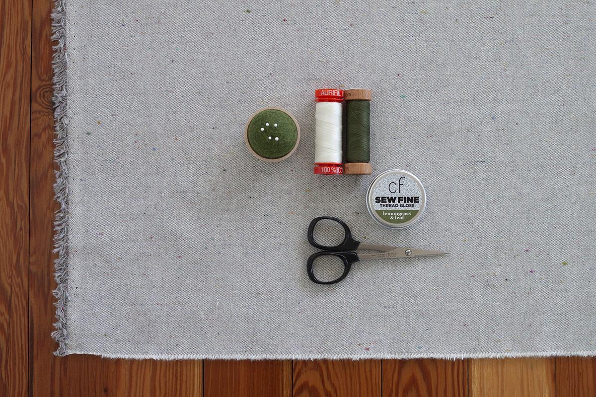 Lemongrass and Leaf Sew Fine Thread Gloss . Carolyn Friedlander