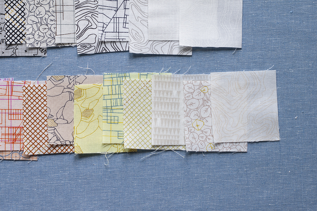 collection CF 2020 fabrics in yellows, creams and white