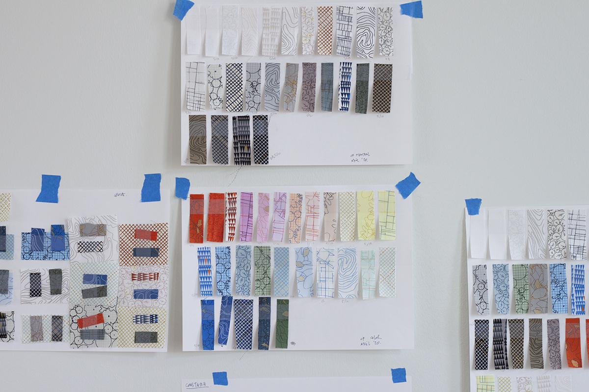 collection CF color planning . carolyn friedlander