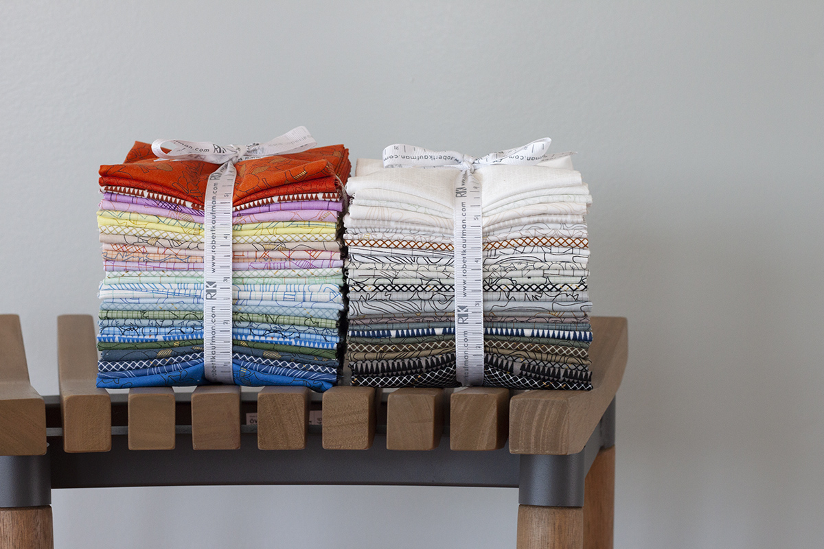 collection CF fabric FQ bundles in colorful and neutral palettes