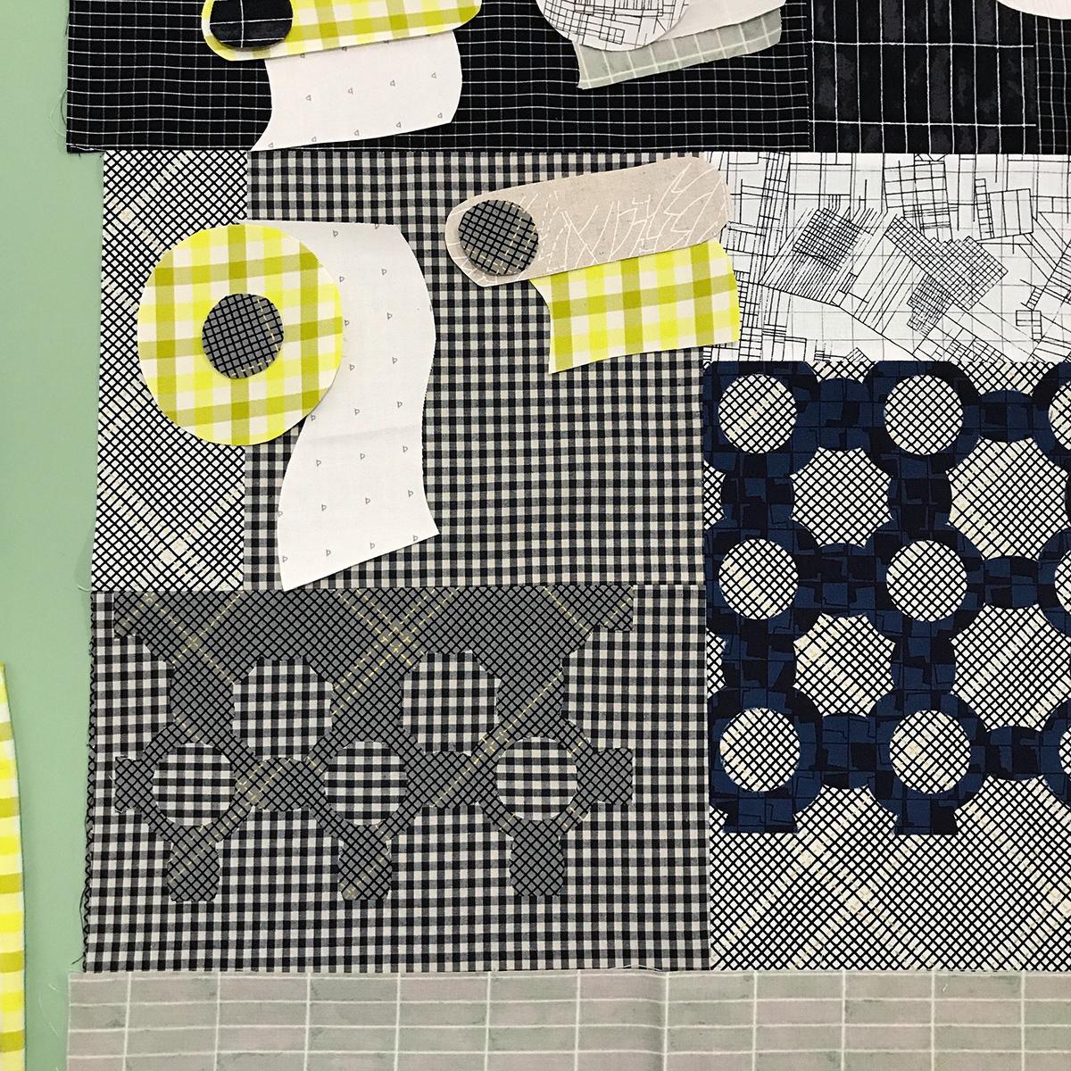 TP quilt in progress . carolyn friedlander