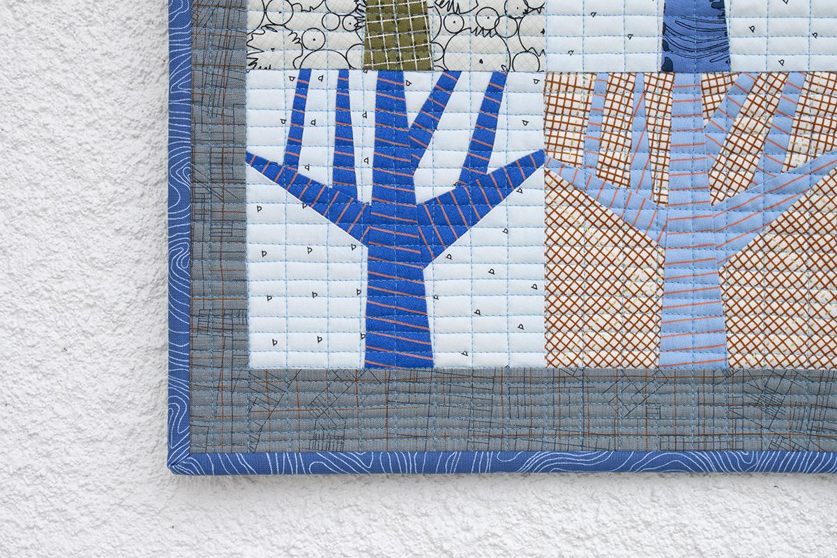 Mini Grove quilt in blue . carolyn friedlander