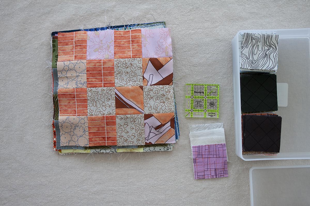 scrap squares . carolyn friedlander