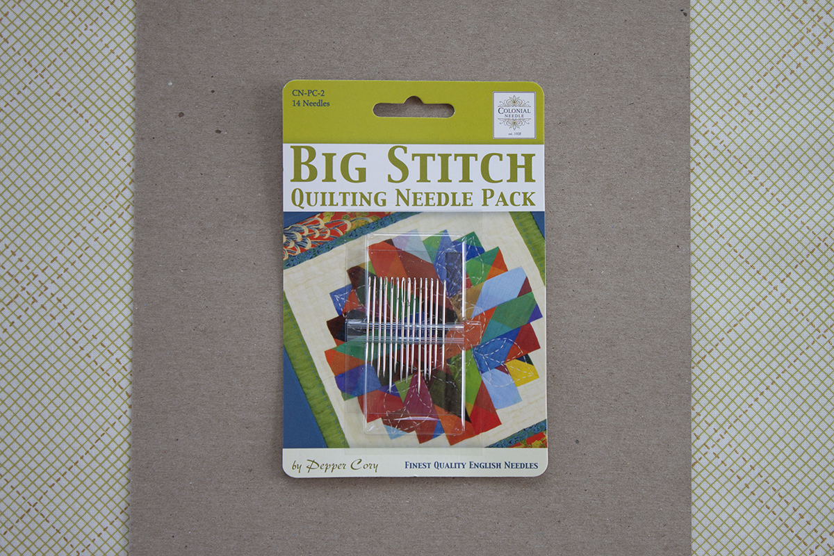 colonial big stitch quilting needle pack