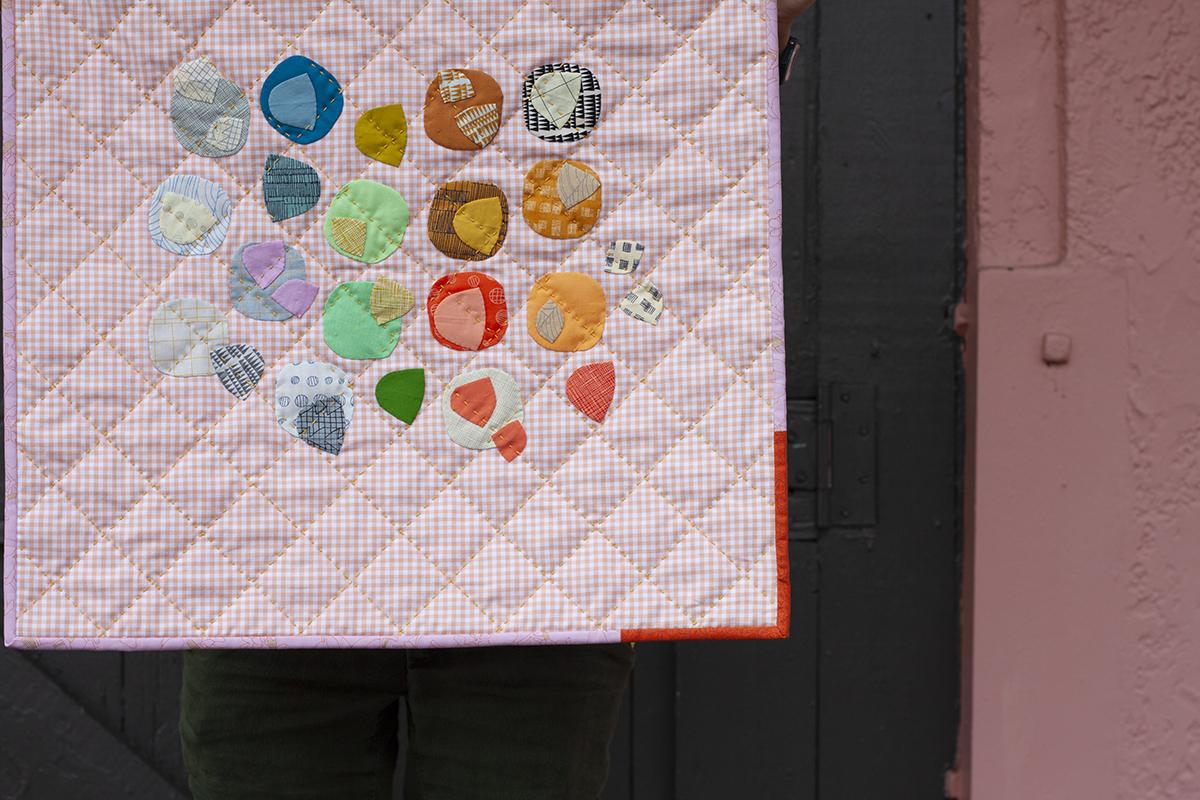 Clay mini quilt . carolyn friedlander