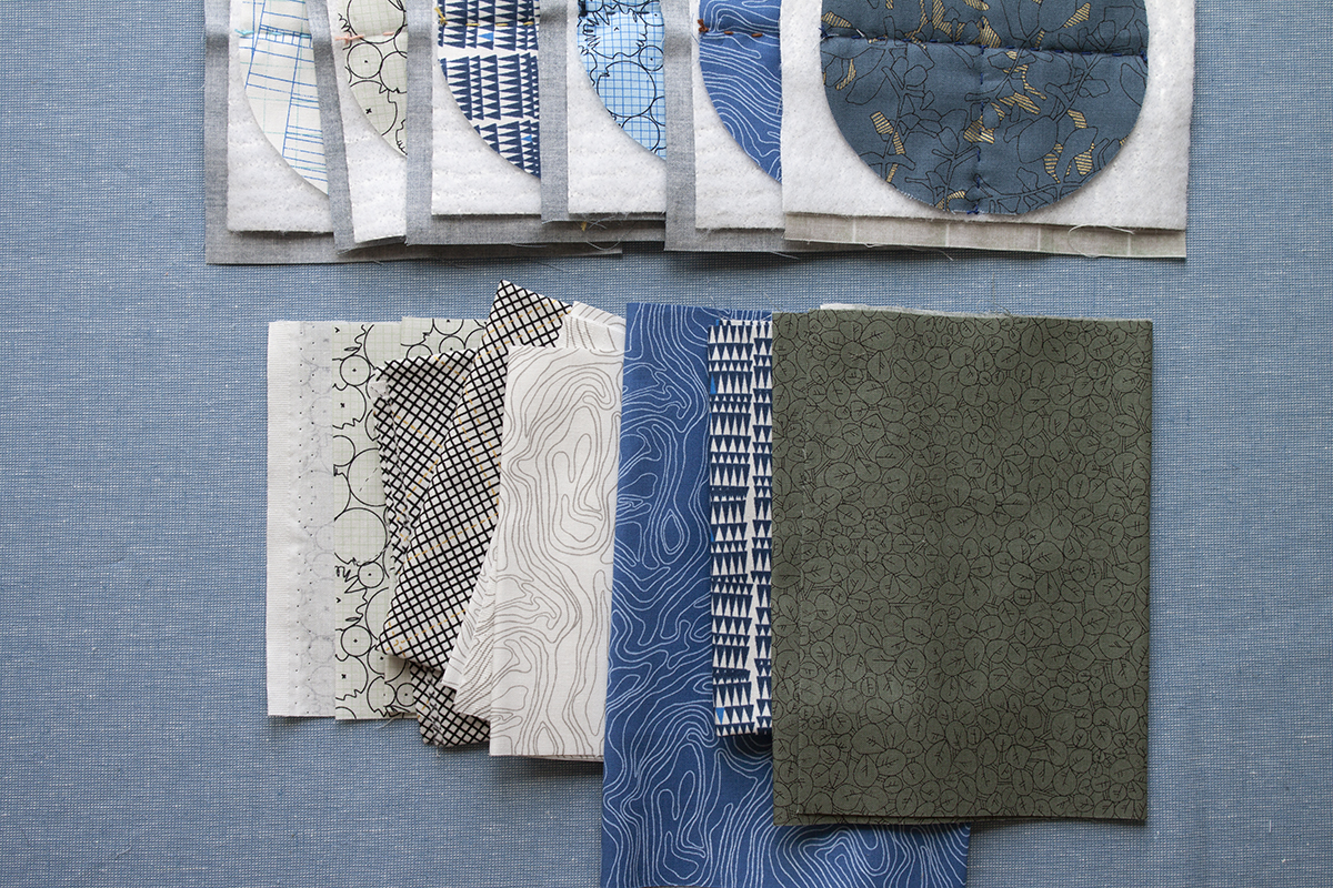 how to bind quilted coasters . carolyn friedlander