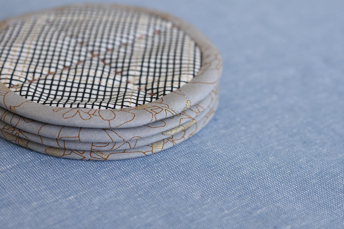 big stitch coasters . carolyn friedlander