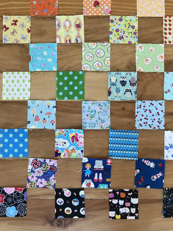 colorful fabric squares
