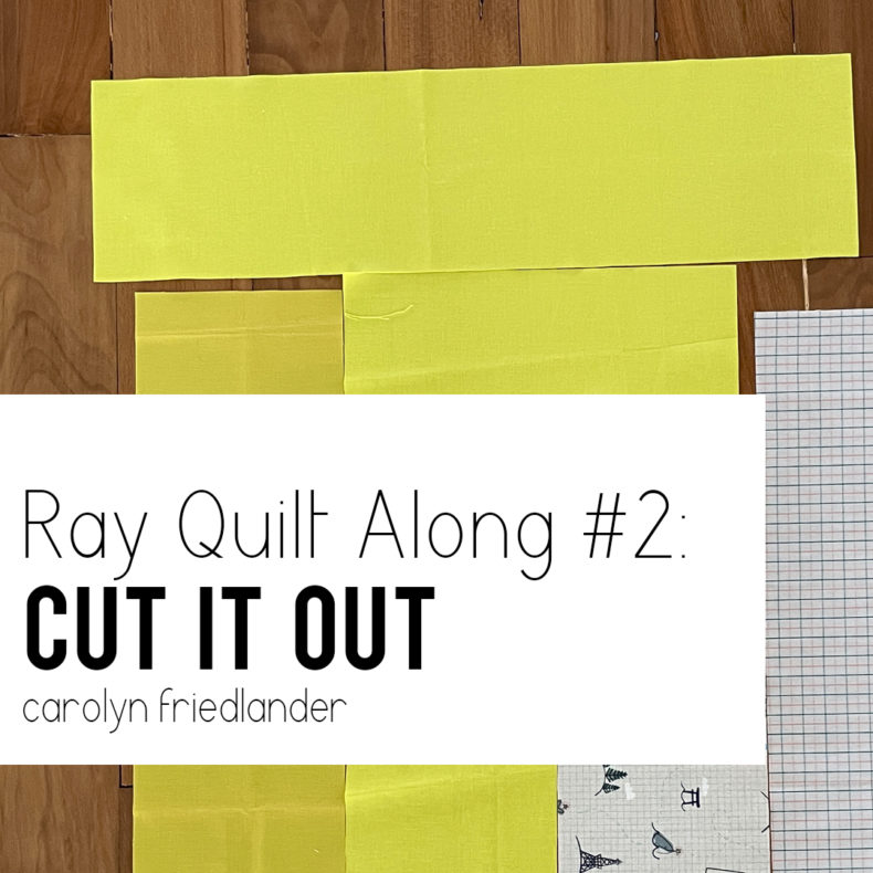 Ray Quilt Along 2: Cut It Out