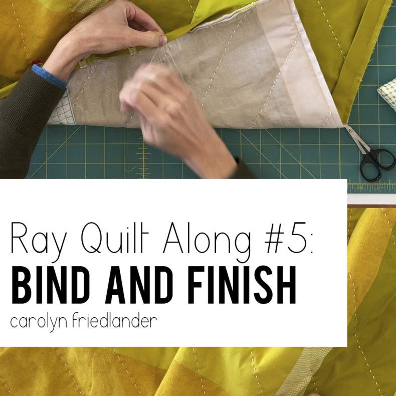 Ray Quilt Along #5: Bind And Finish . Carolyn Friedlander