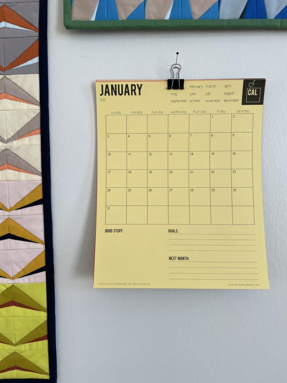 2021 printable calendar . carolyn friedlander
