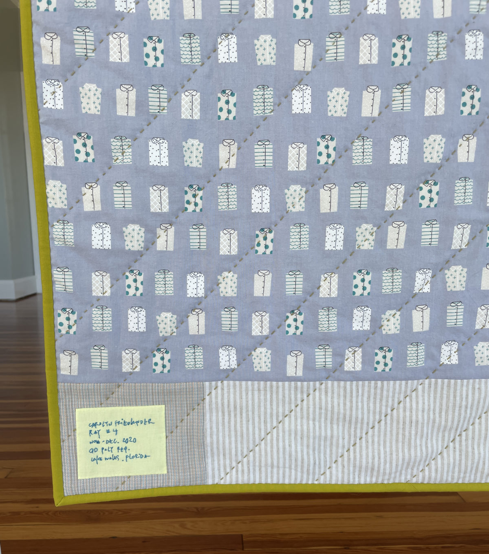 ray quilt along label . carolyn friedlander