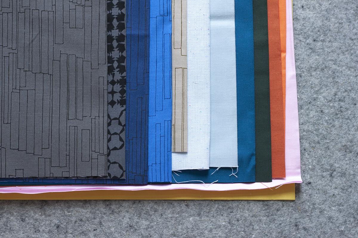 Clay Kept Quilt fabrics . Carolyn Friedlander
