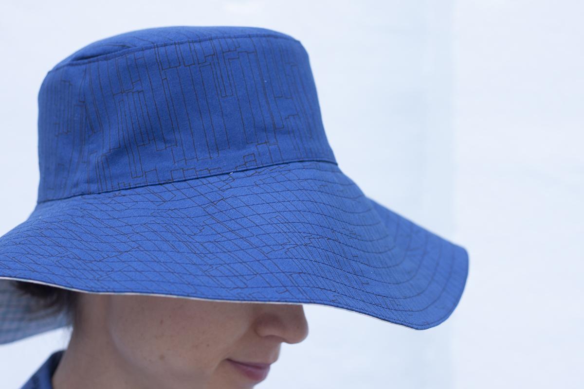Serpentine Sun Hat in Kept fabrics