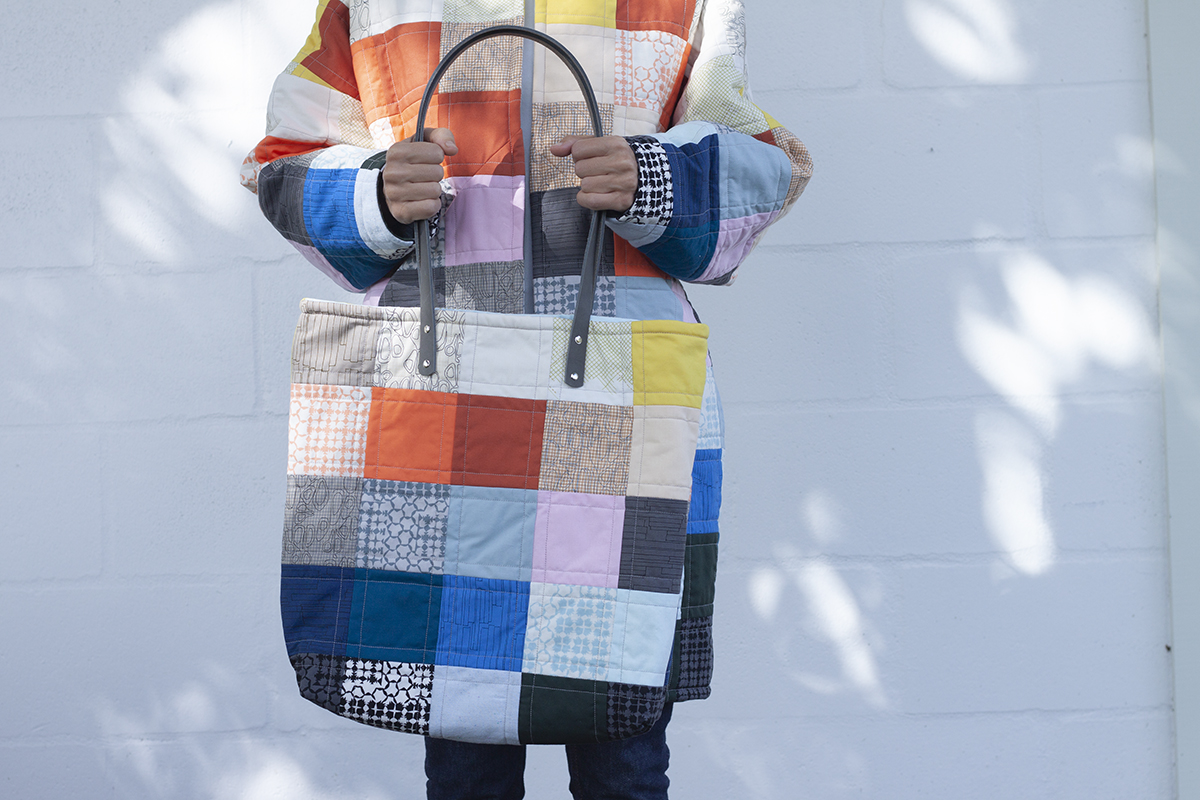 Kept Quilted Coat and Tote