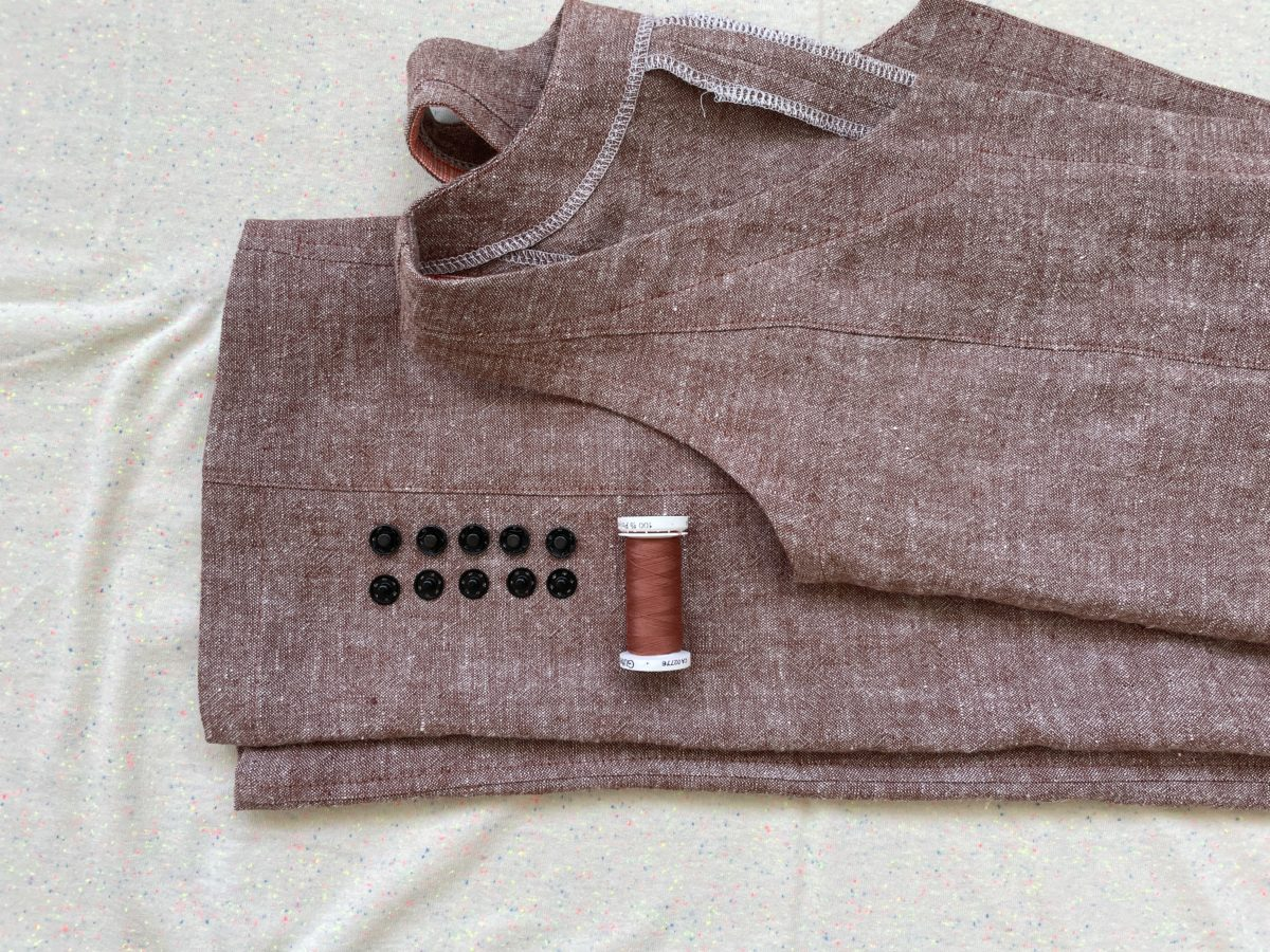 Rory Jumpsuit in Brussels Washer linen with sew-in snaps