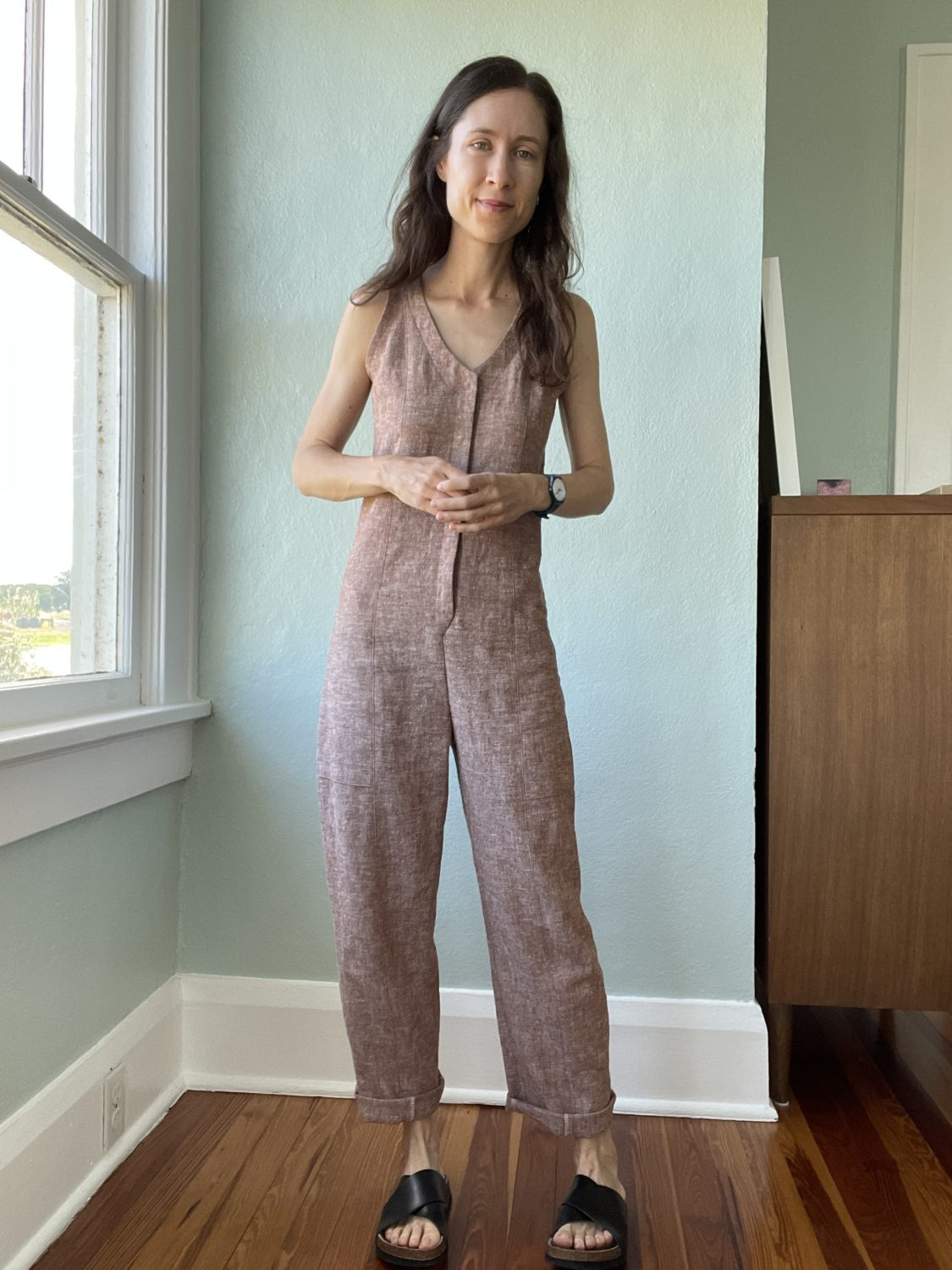 Rory Jumpsuit in Brussels Washer linen